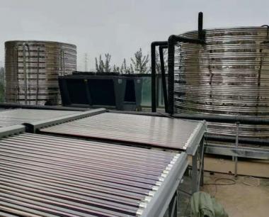 天津雍乐酒店热水工程(太阳能+空气能)