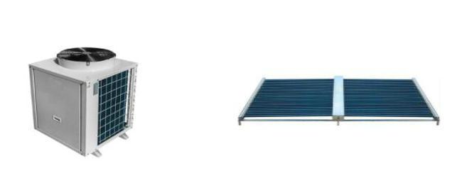 空气能热水器+真空管太阳能设备