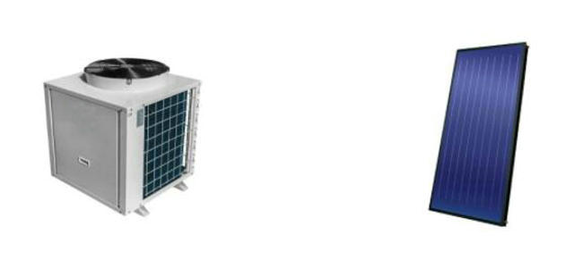 空气能热水器+平板太阳能设备