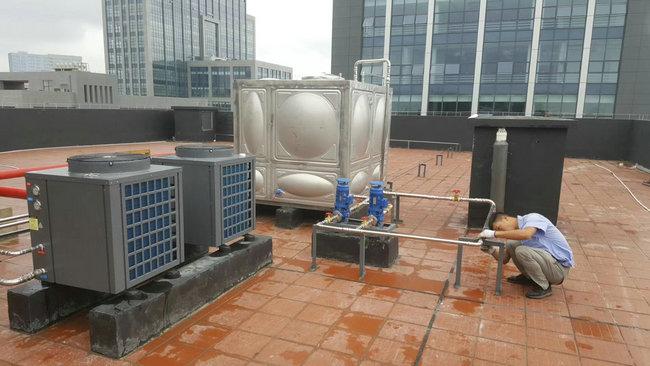 貴陽公安分局民警宿舍熱水和食堂熱水工程-空氣能熱泵廠家